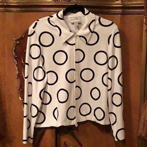 Joseph Ribkoff Vintage White & Black Jacket